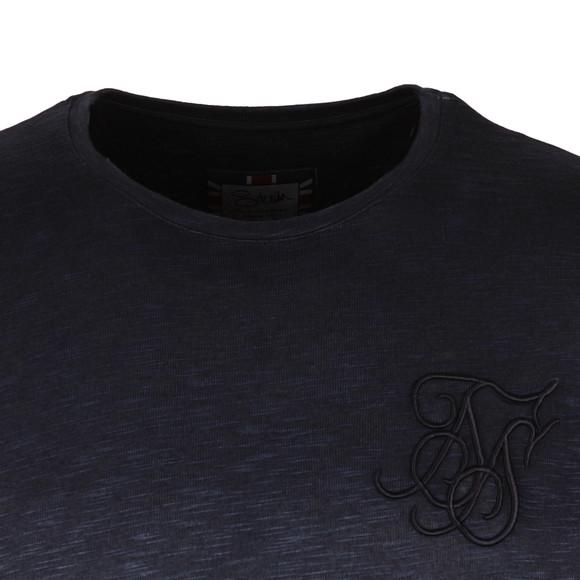 Sik Silk Mens Blue Mouline Dip Dye Undergarment Tee main image