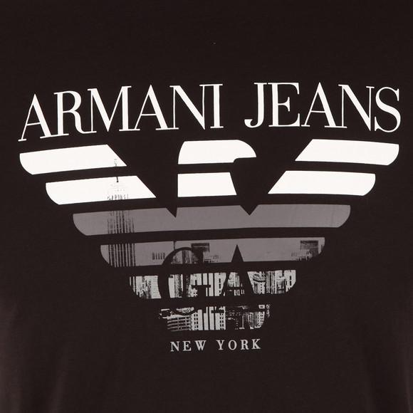 Armani Jeans Mens Black New York Logo T Shirt main image