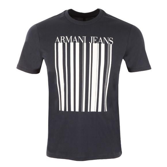 Armani Jeans Mens Blue Stripe Logo T Shirt main image