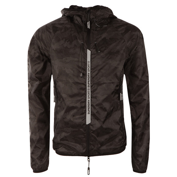 Superdry Sport Mens Black Sports Active Cagoule main image