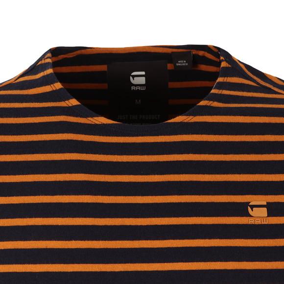 G-Star Mens Orange S/S Xartto Stripe Tee main image