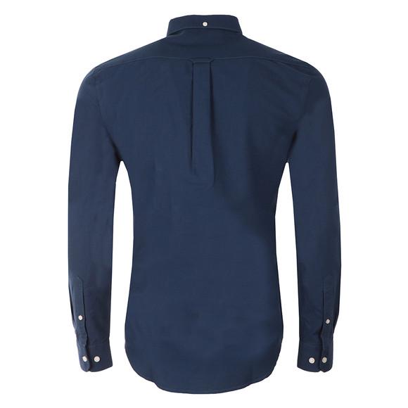 Farah Mens Blue L/S Brewer Oxford Shirt main image