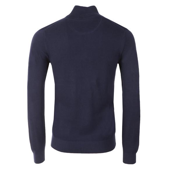 Gant Mens Blue Cotton Pique Half Zip main image
