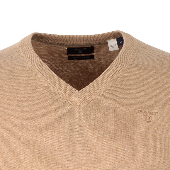 Gant Mens Beige V Neck Jumper main image