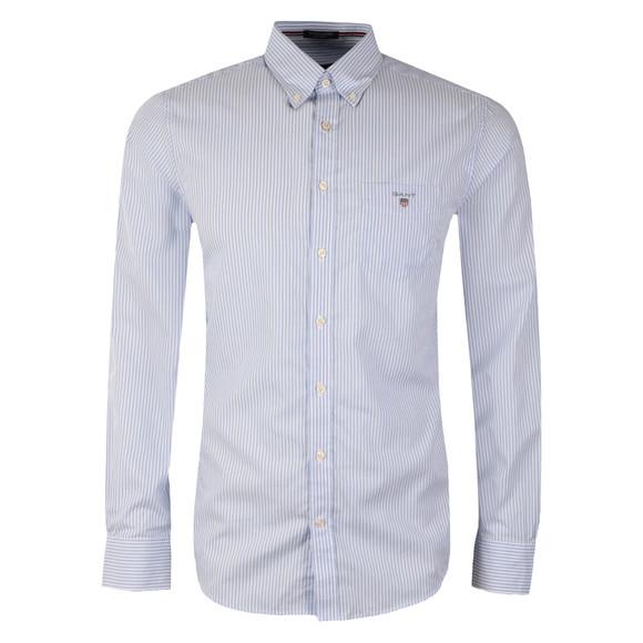 Gant Mens Blue Poplin Bankers Stripe Shirt main image