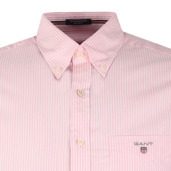 Gant Mens Pink Poplin Bankers Stripe Shirt main image