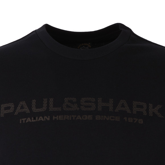 Paul & Shark Mens Blue Raised Logo Sweatshirt main image