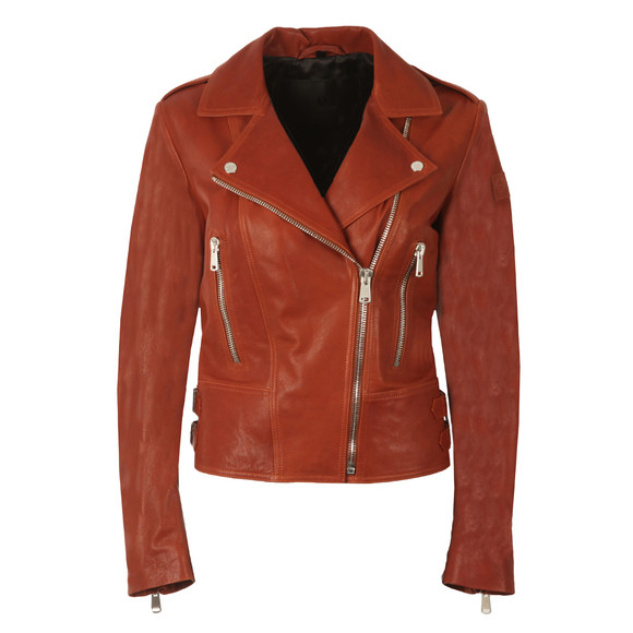 Belstaff Womens Red Marvingt Leather Blouson main image