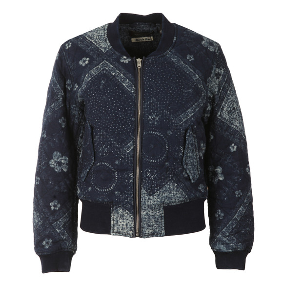 Maison Scotch Womens Blue Parka Bomber Jacket main image
