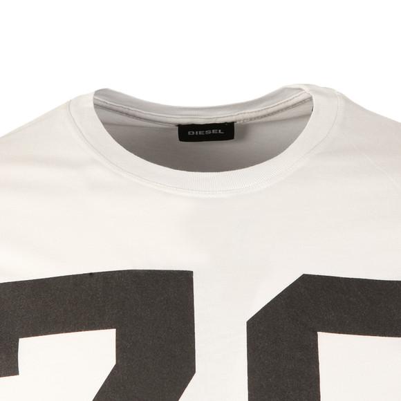 Diesel Mens White Diego ND T Shirt main image