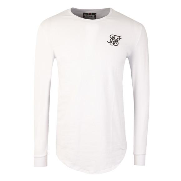 Sik Silk Mens White Long Sleeve Gym T Shirt main image