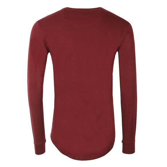 Sik Silk Mens Red Long Sleeve Gym T Shirt main image