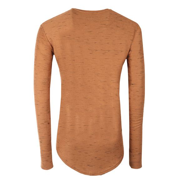 Sik Silk Mens Beige Long Sleeve Inject Waffle T Shirt main image
