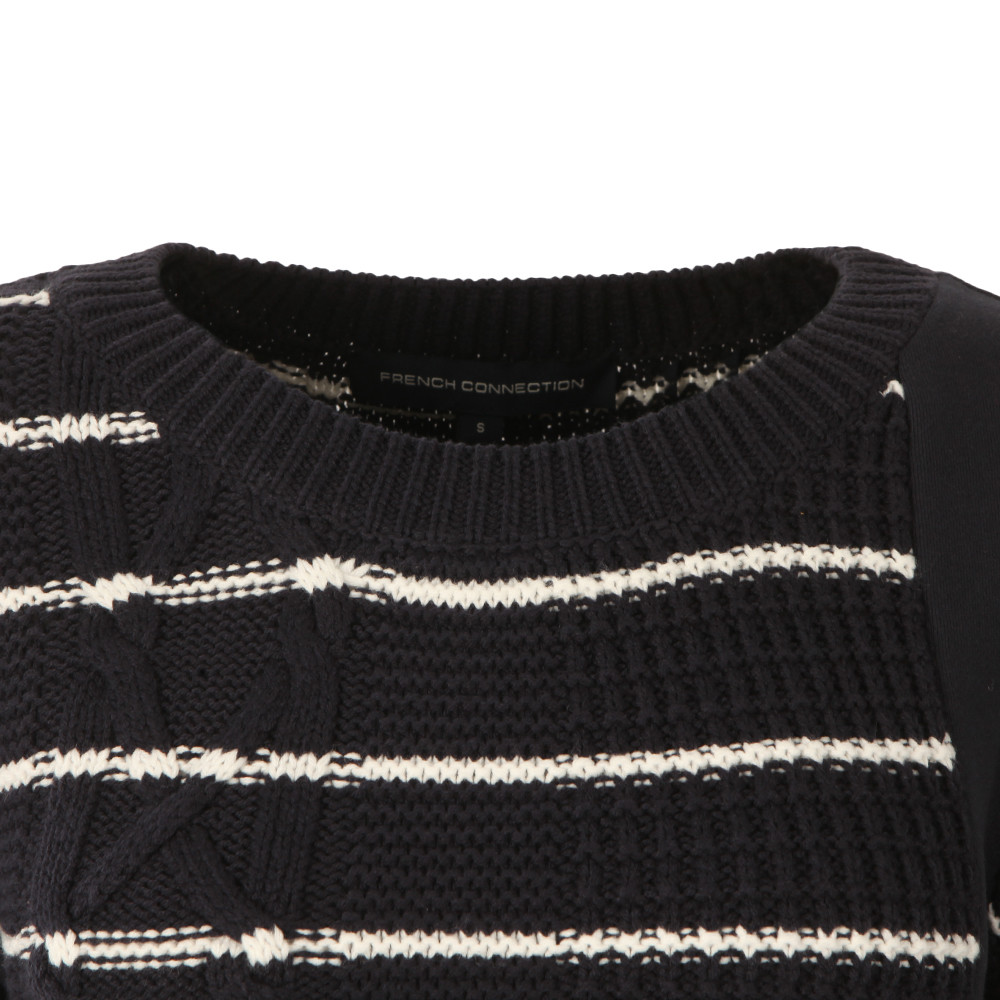 Cable Stripe Knit Jumper main image