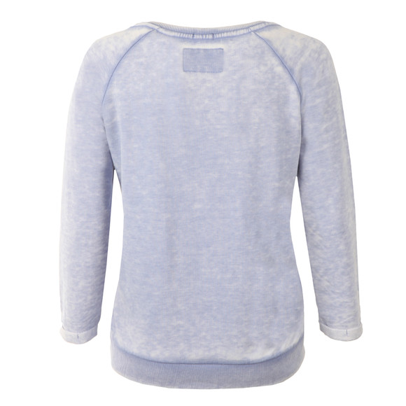 Superdry Womens Blue Burnout Pastel Crew Sweat main image