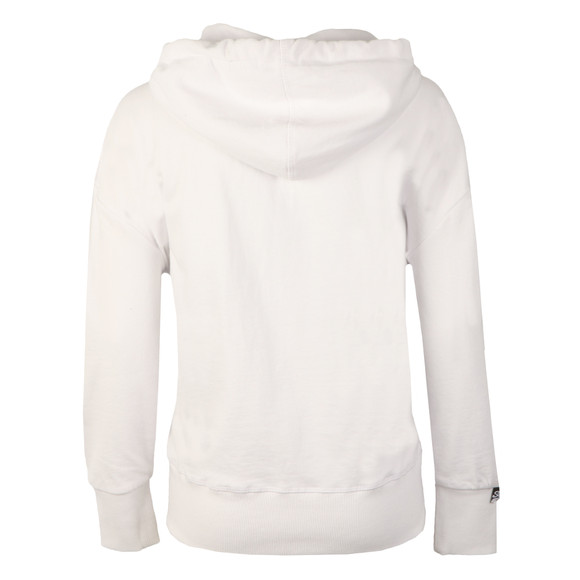 Superdry Womens White Vintage Logo Embossed Slouch Hoody main image