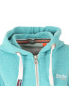 Superdry Womens Green Orange Label Primary Zip Hoody