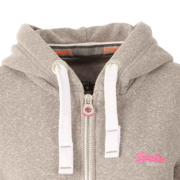 Superdry Womens Grey Orange Label Primary Zip Hoody main image