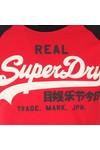Superdry Mens Red S/S Vintage Logo Raglan Tee