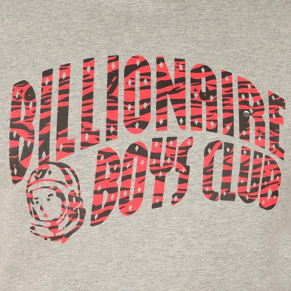 Billionaire Boys Club Mens Grey Zebra Camo Arch Logo Pop Over Hoody main image