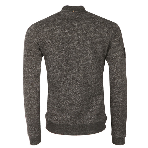 Pretty Green Mens Black Ranford Sweat Zip main image