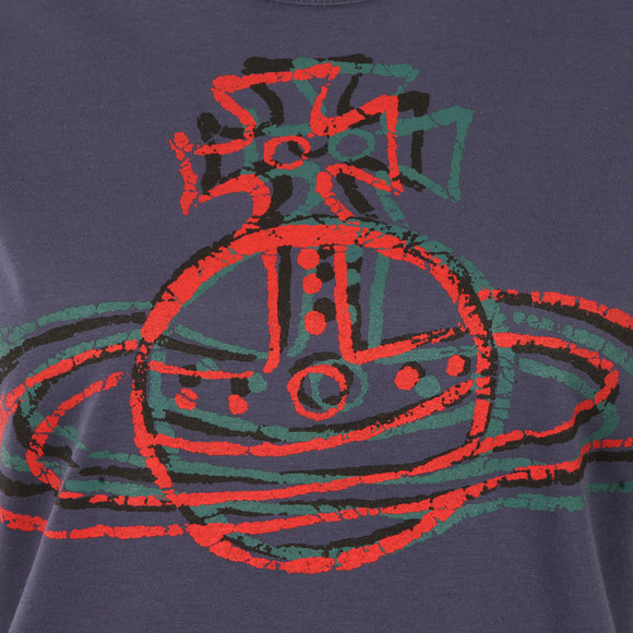 Vivienne Westwood Anglomania Womens Purple Cracked Orb T Shirt main image