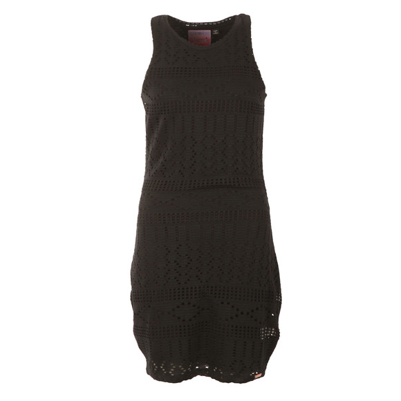 Superdry Womens Black Crochet Knit Bodycon Dress main image