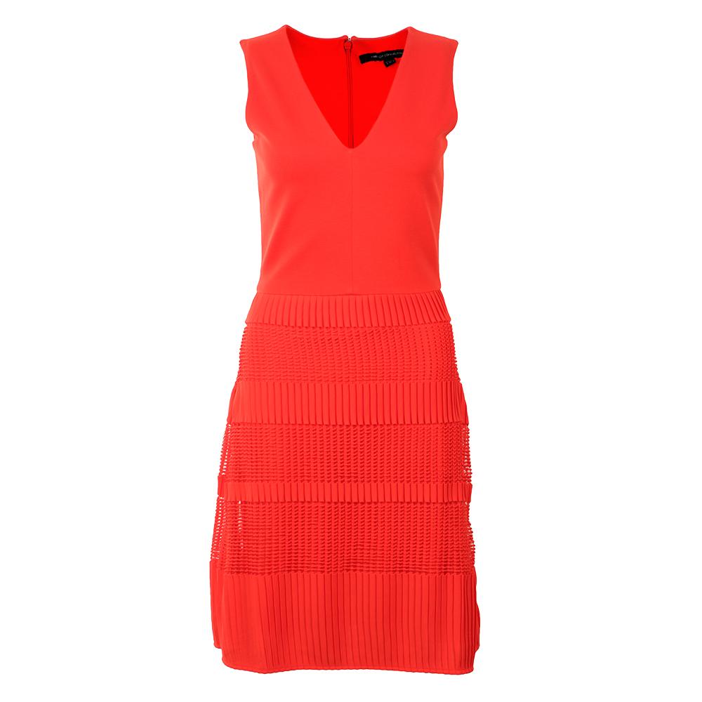 Pleat Lace Jersey Dress main image