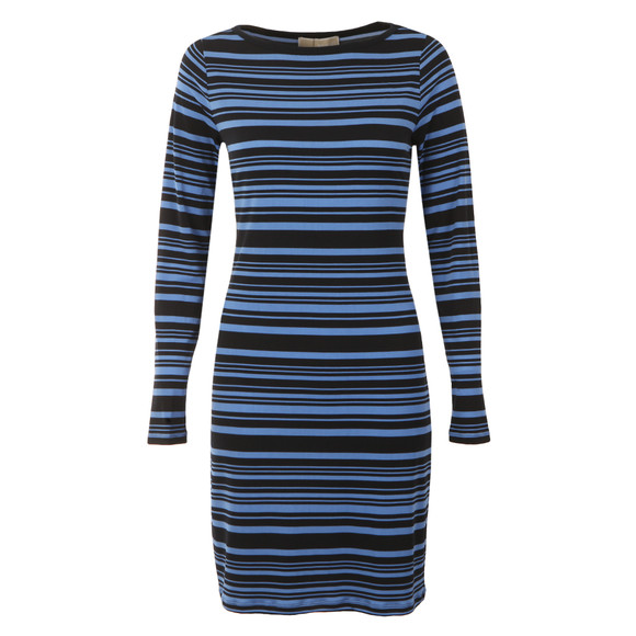 Michael Kors Womens Blue Adrennais Boatneck Dress main image