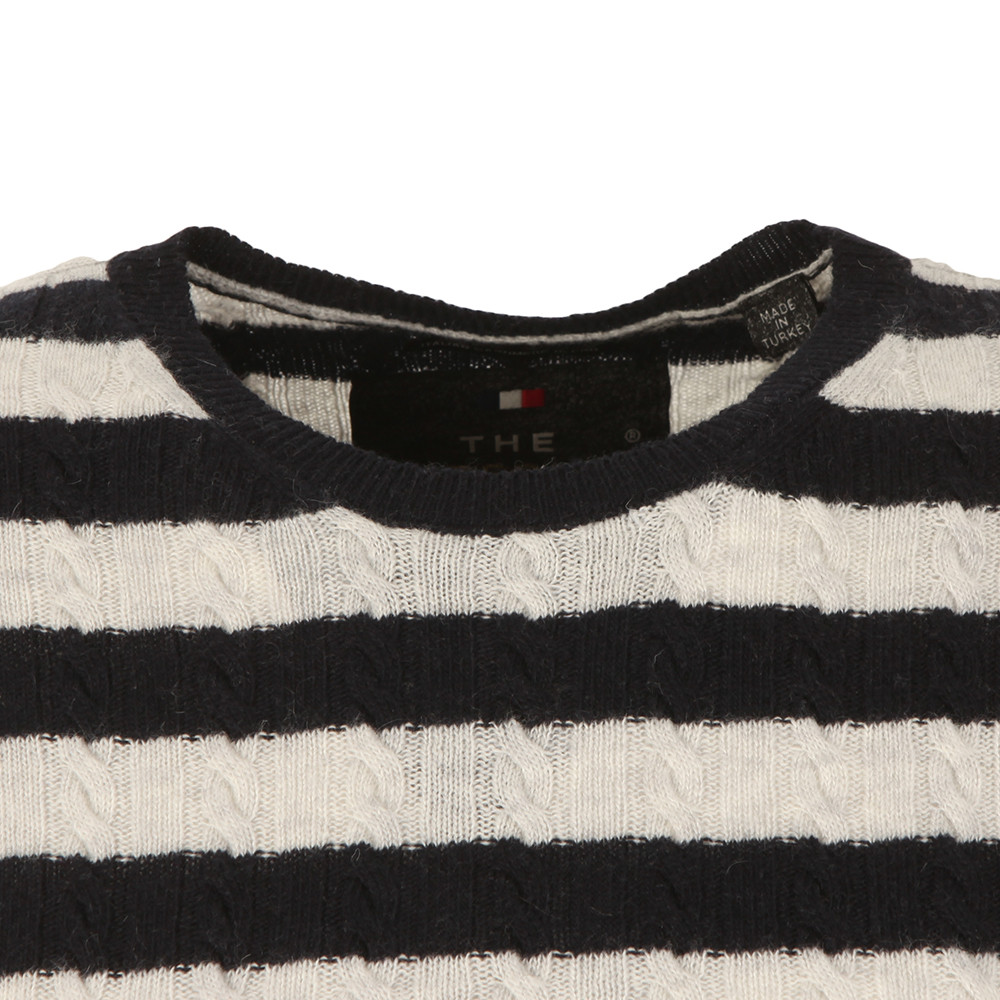 Luxe Mini Cable Stripe Knit main image