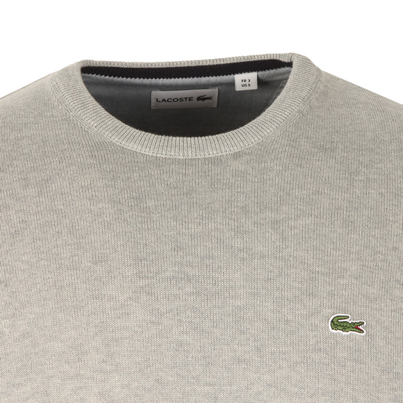 Lacoste Mens Grey AH4888 Crew Neck Jumper main image