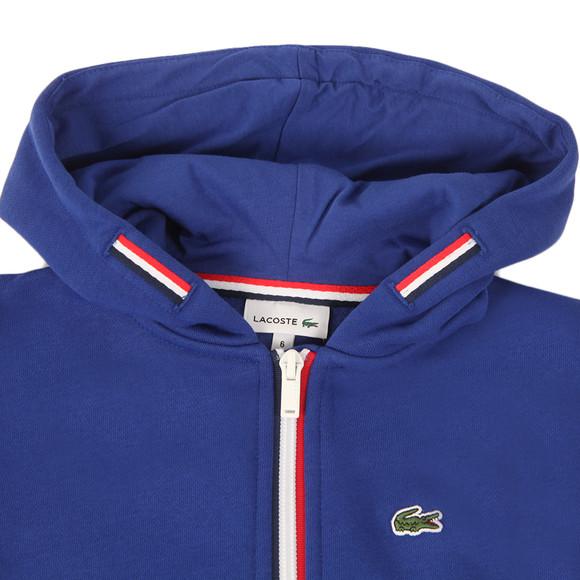 Lacoste Boys Blue SJ2970 Full Zip Hoody main image