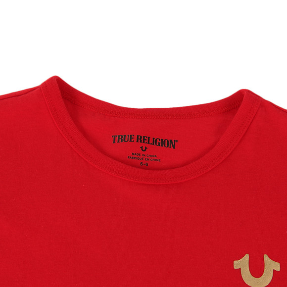 True Religion Boys Red Gold Buddha Logo Tee main image