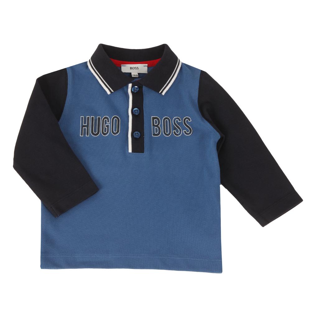 Baby Logo Contrast Collar Ls Polo Shirt