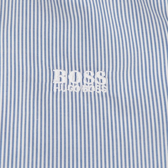 Boss Boys Blue Boys Stripe Shirt main image