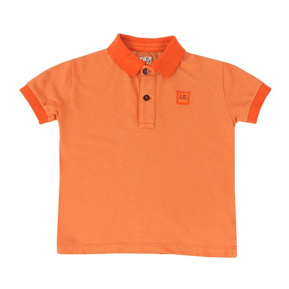 CP Company Undersixteen Boys Orange Contrast Collar Polo Shirt main image