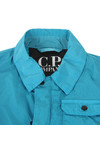 CP Company Undersixteen Boys Blue Nylon Chrome Overshirt