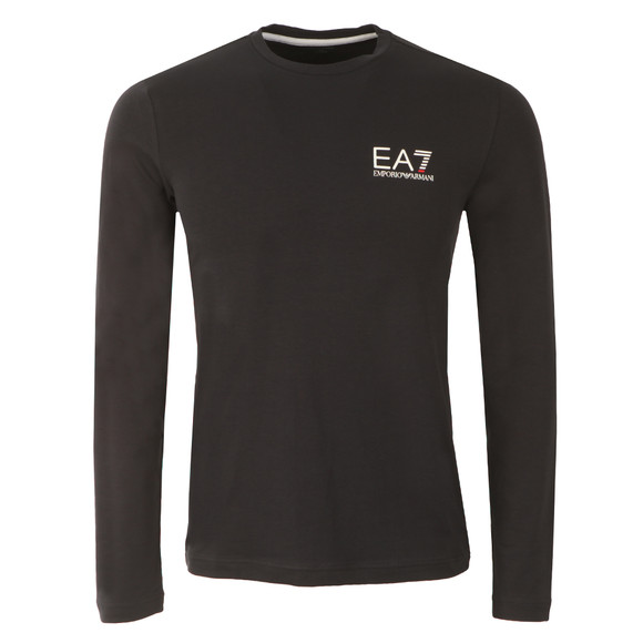 EA7 Emporio Armani Mens Blue Small Logo Long Sleeve T Shirt main image