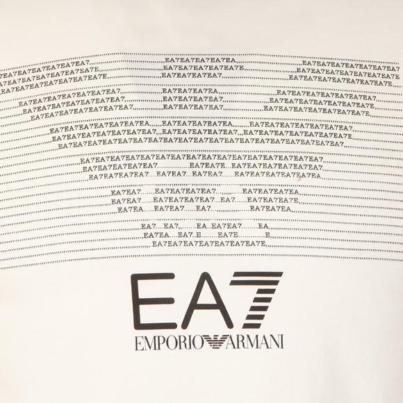 EA7 Emporio Armani Mens White Chest Pattern Eagle T Shirt main image