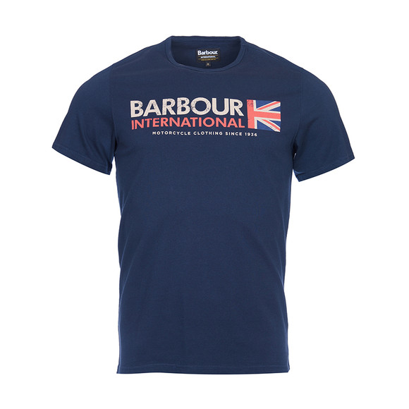 Barbour International Mens Blue S/S Flag Tee main image