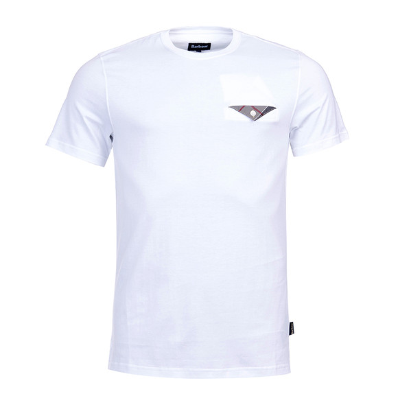 Barbour Lifestyle Mens White S/S Walshaw Tee main image