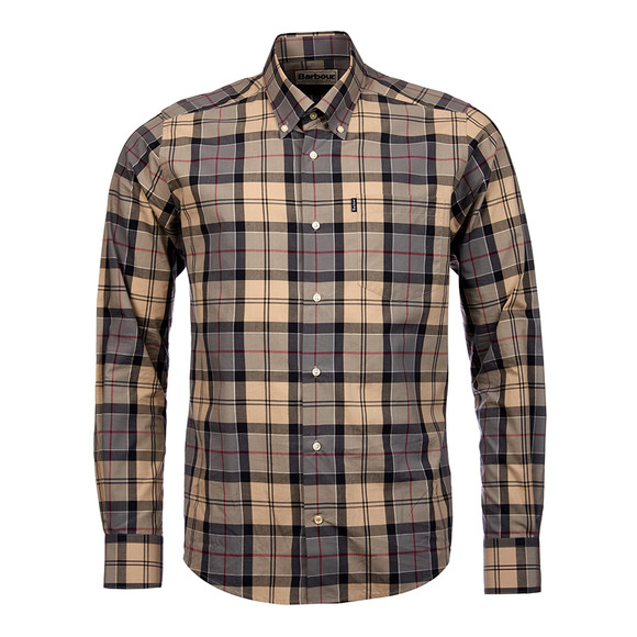 Barbour Lifestyle Mens Grey L/S Herbert Shirt main image