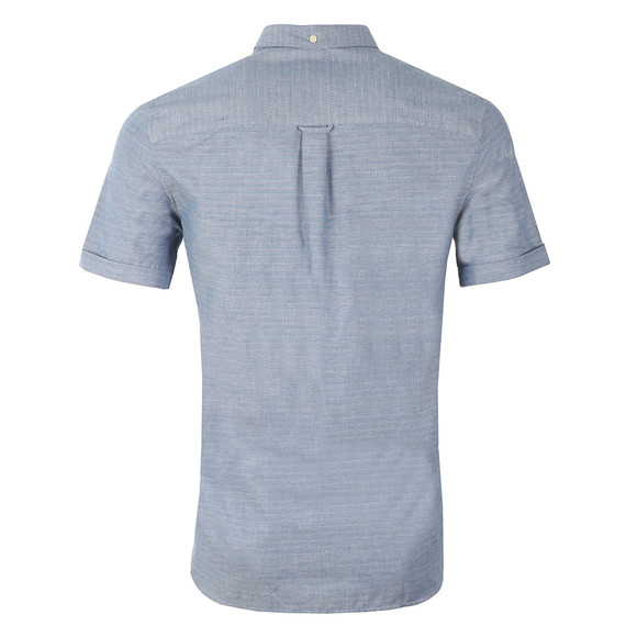 Lyle and Scott Mens Blue S/S Coloured Stitch Shirt main image