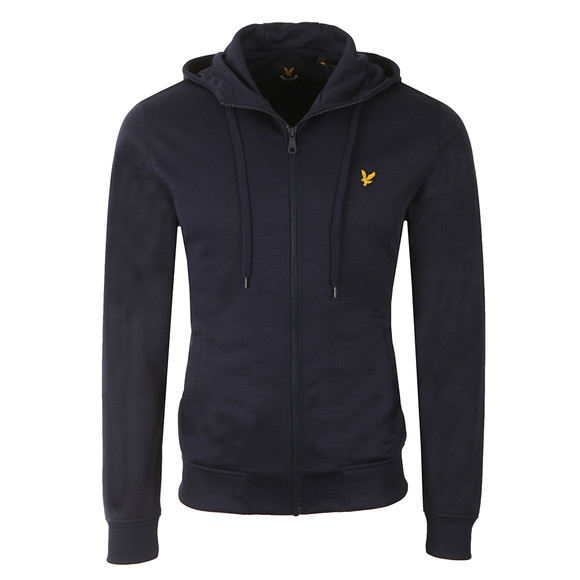 Lyle and Scott Mens Blue Funnel Neck Tricot Jacket main image