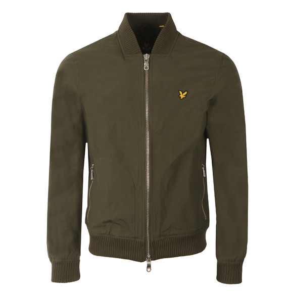 Lyle and Scott Mens Green Bomber Jacket main image