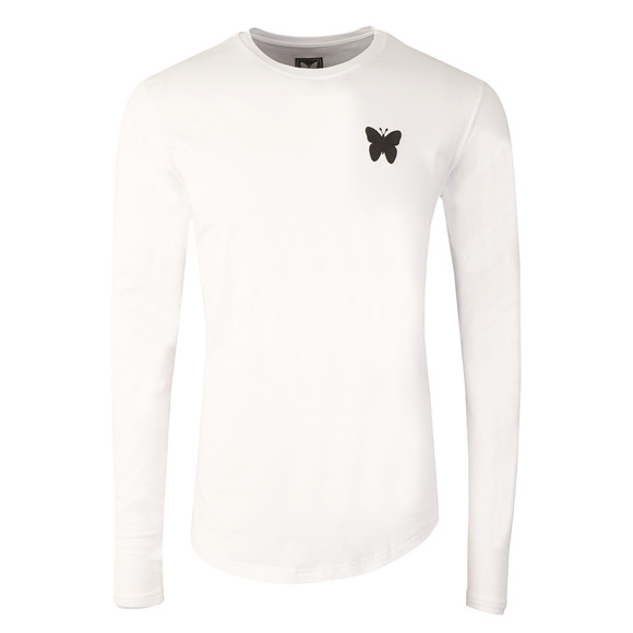 Good For Nothing Mens White Essential Long Sleeve T Shirt main image