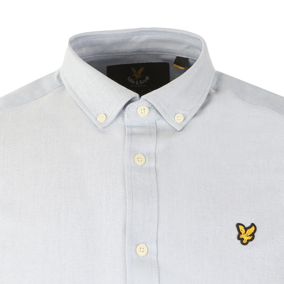 Lyle and Scott Mens Blue S/S Oxford Shirt main image