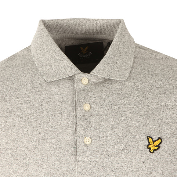 Lyle and Scott Mens Grey S/S Mouline Polo main image