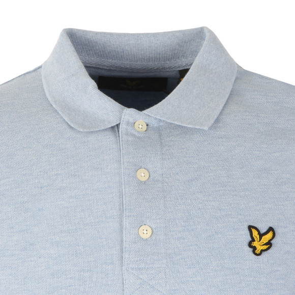 Lyle and Scott Mens Blue L/S Polo main image