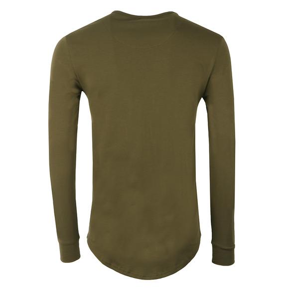 Sik Silk Mens Green Long Sleeve Gym T Shirt main image